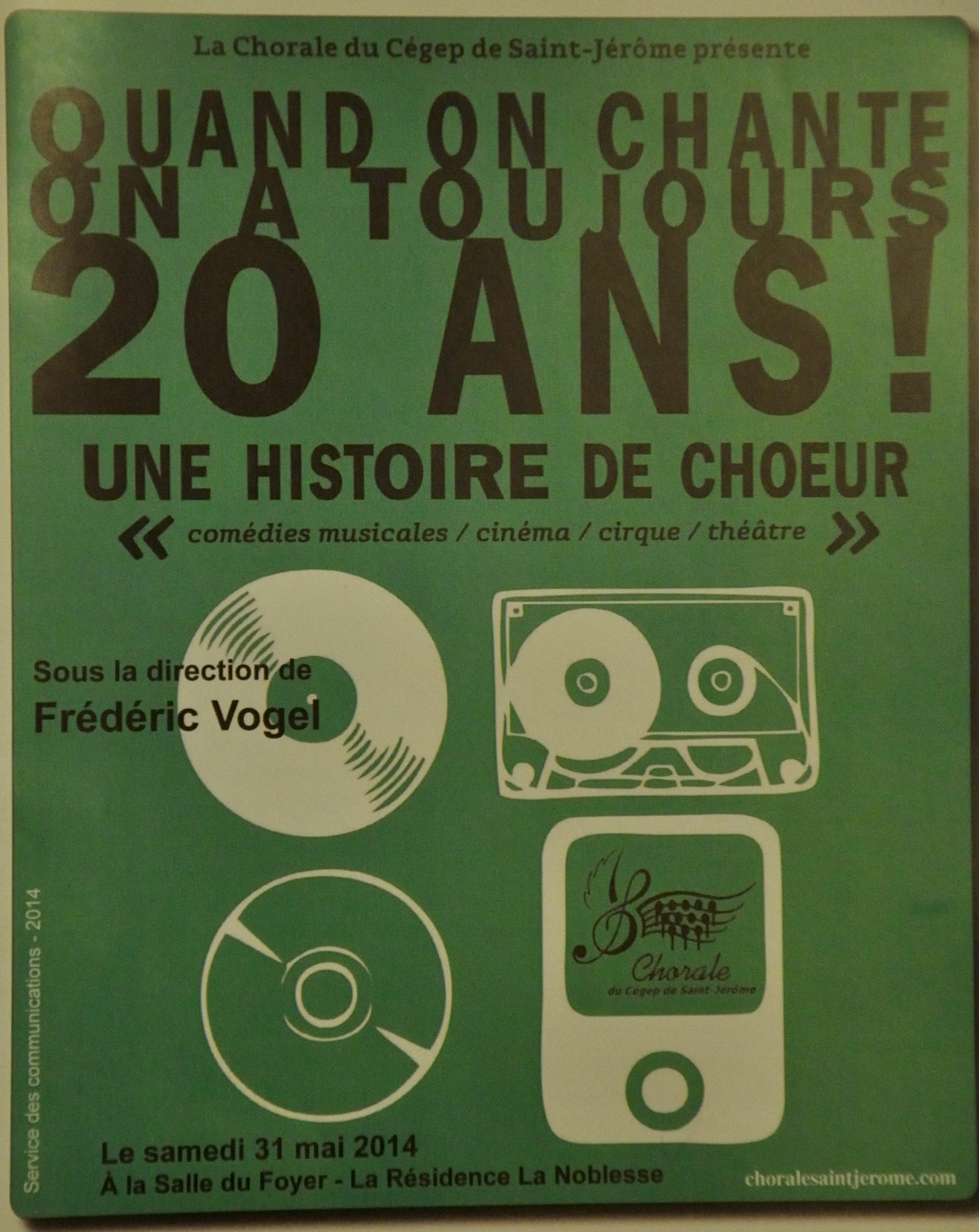 2014-31 mai Quand on chante on a toujours 20 ans