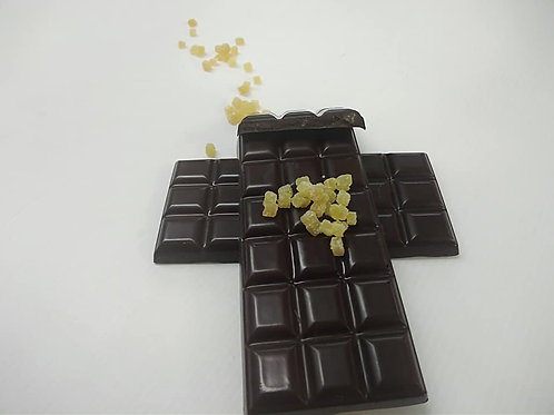 Tablette de chocolat au gingembre