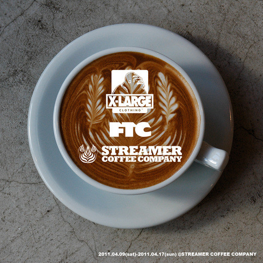 XLARGE × STREAMER COFFEE COMPANY ビジュアル