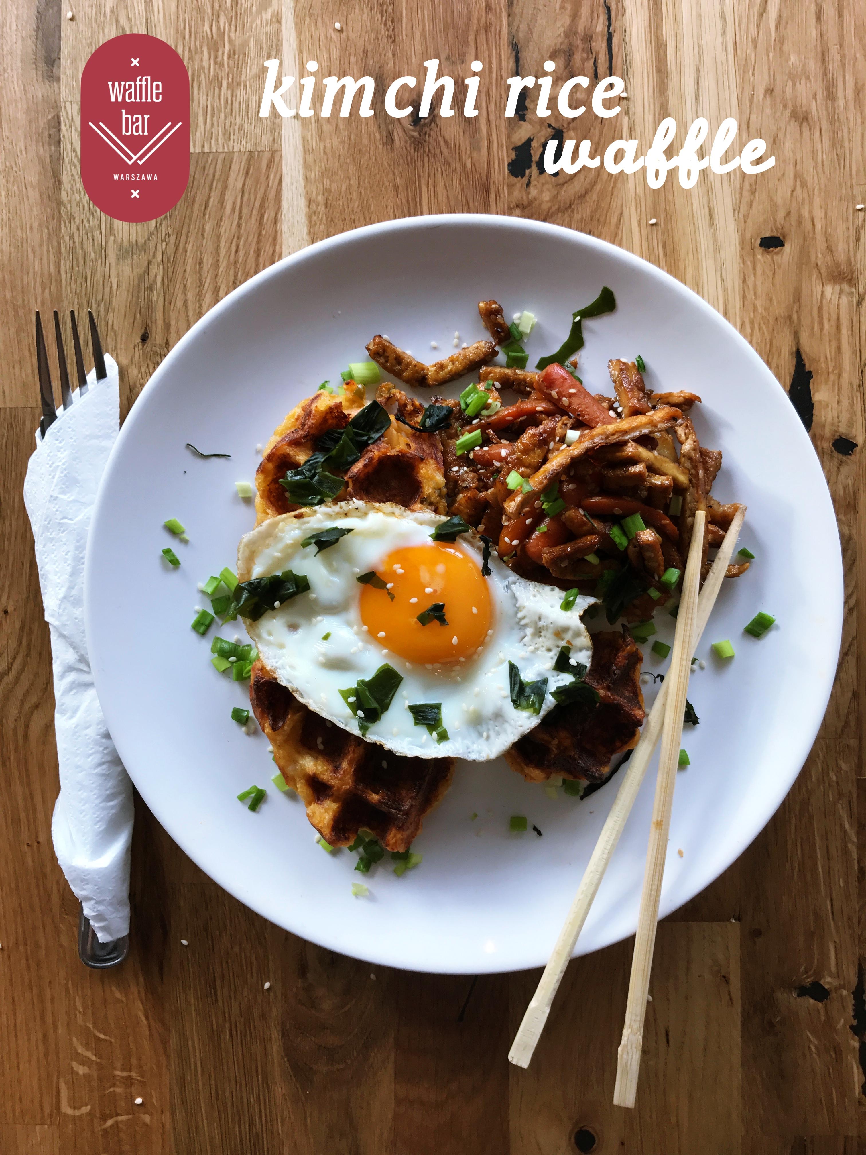 kimchi rice waffle