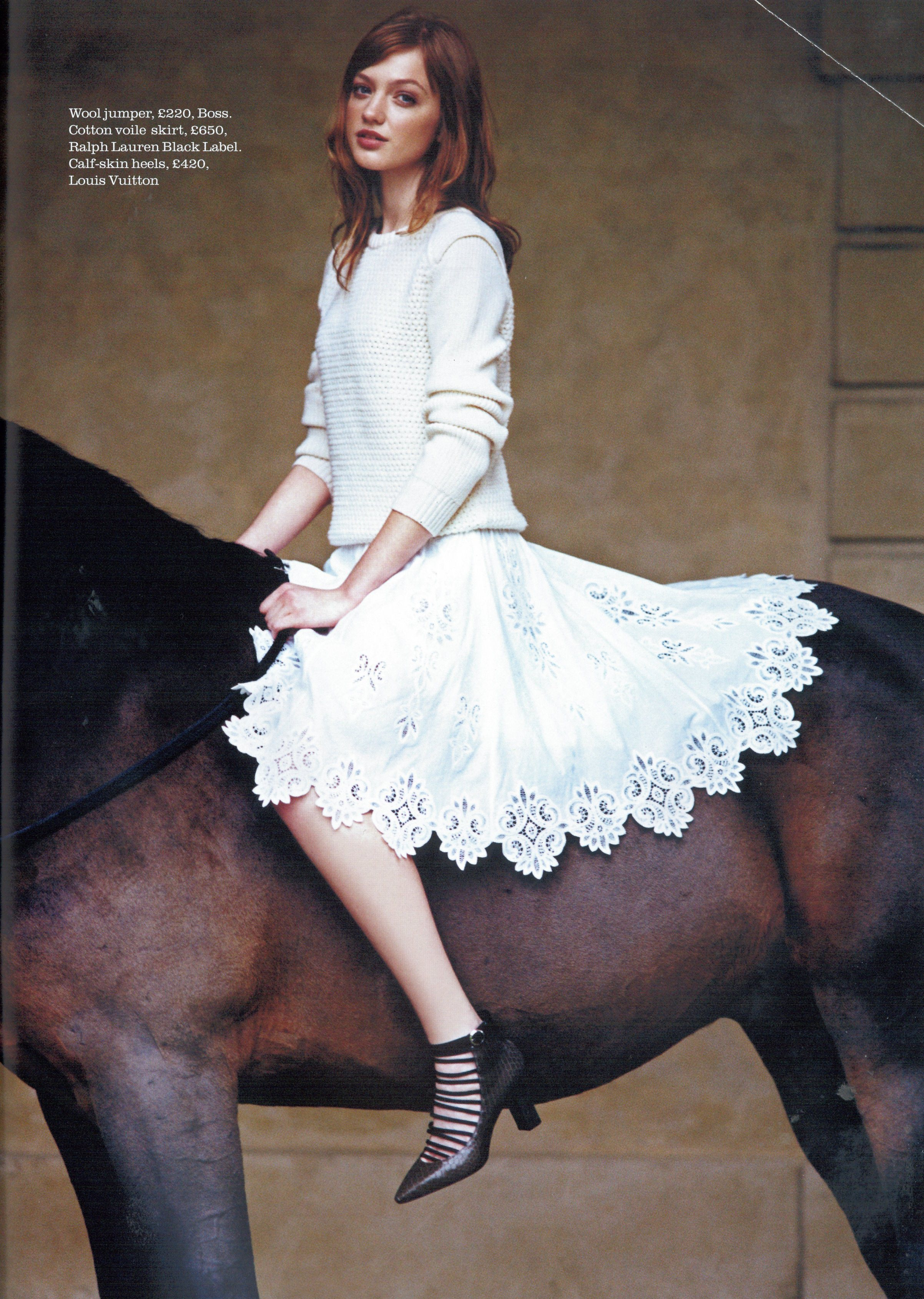 Town and Country UK Spring 2015 Black Label SS15 Lace Skirt