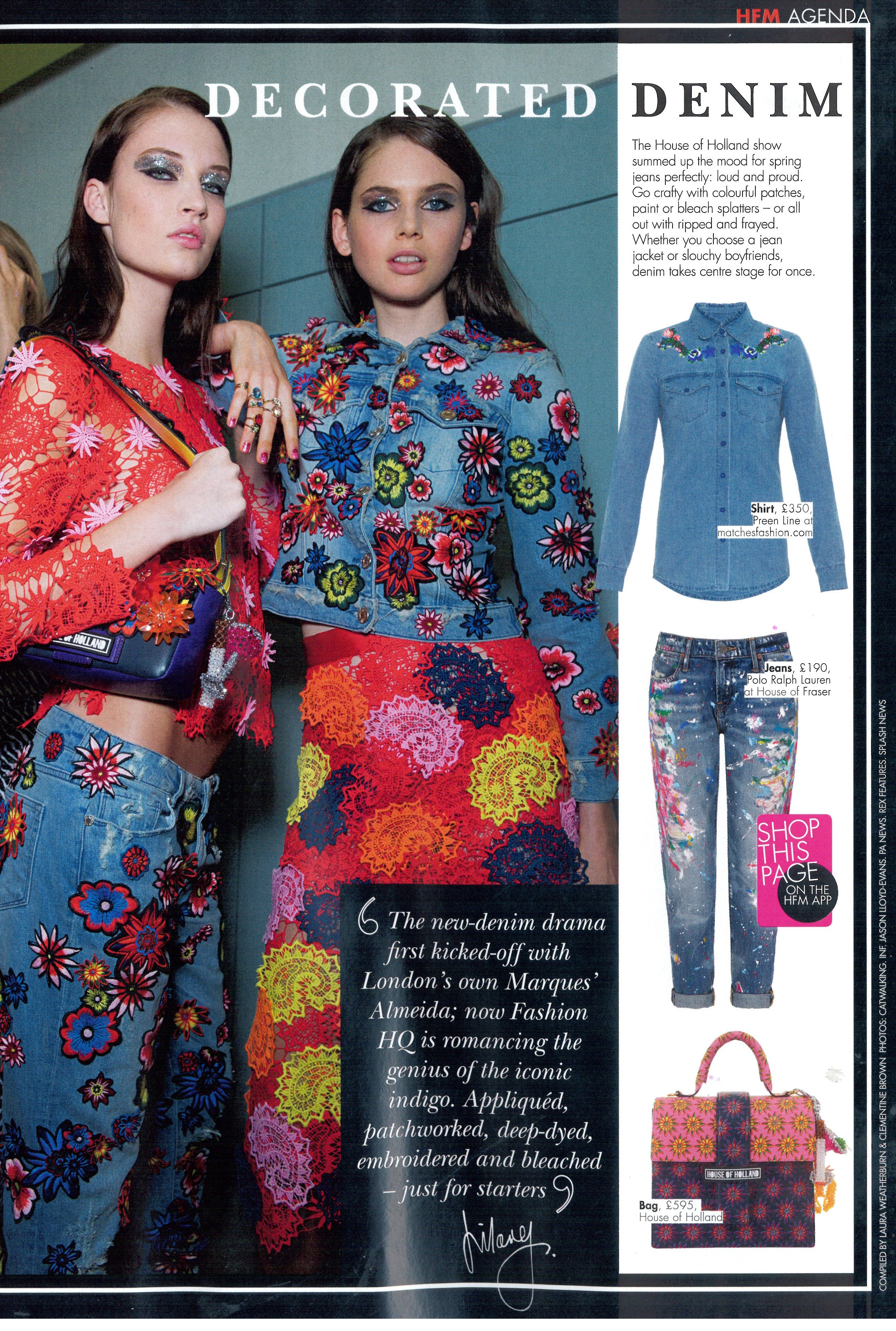HELLO FASHION UK 03.02.15Polo SS15 Painted Jeans