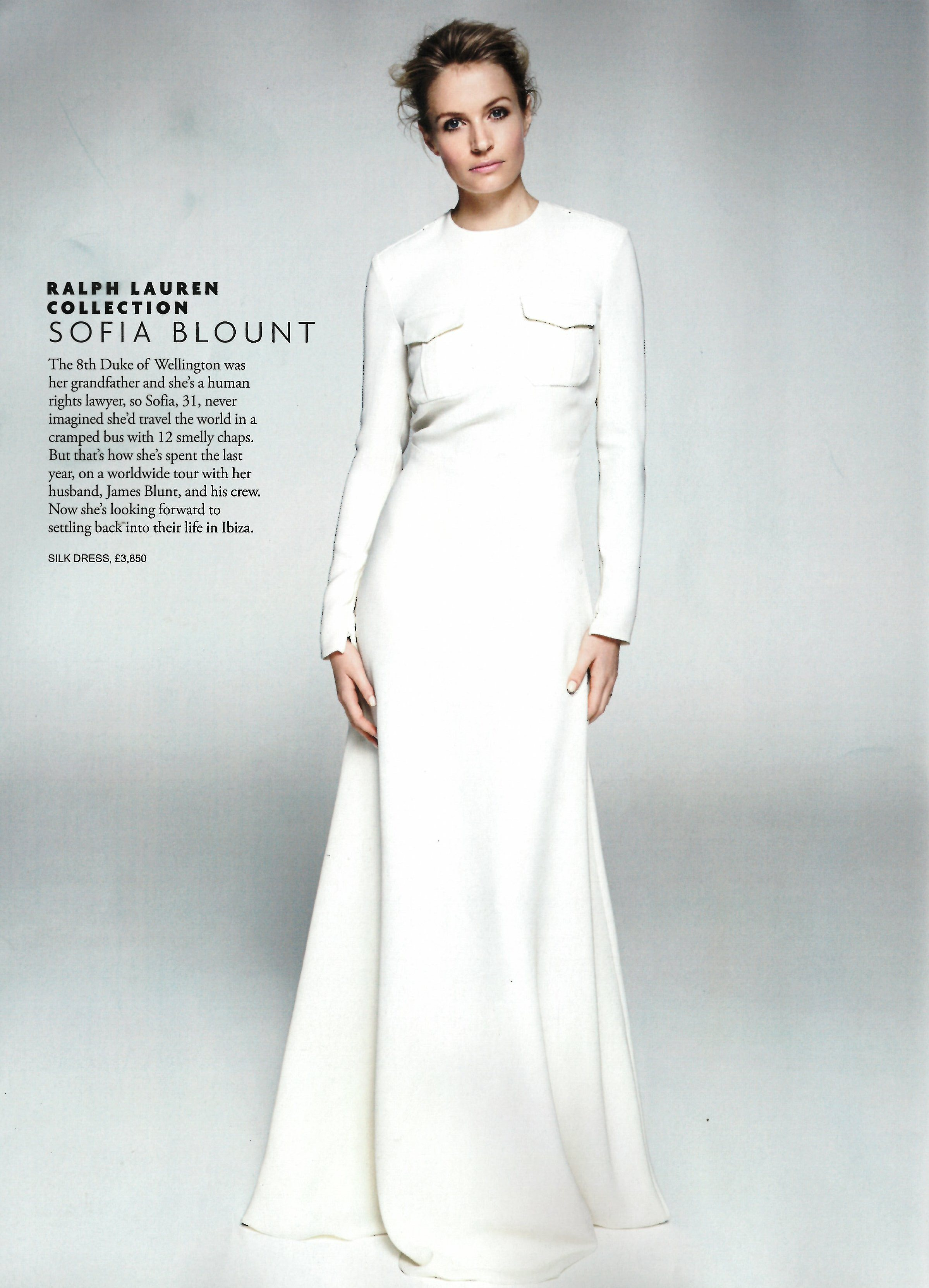 Tatler UK March 2015 Collection SS15 Look 38 White Clifton Silk Evening Dress