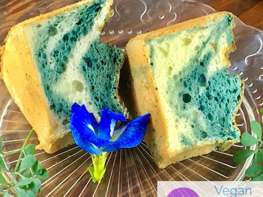 Butterfly Pea Chiffon Cake