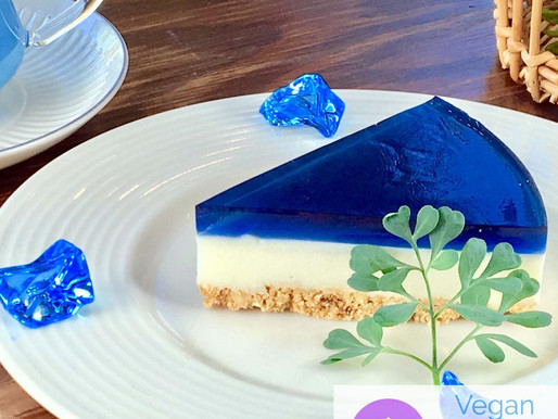 Unbaked Butterfly Pea Cheese Cake
