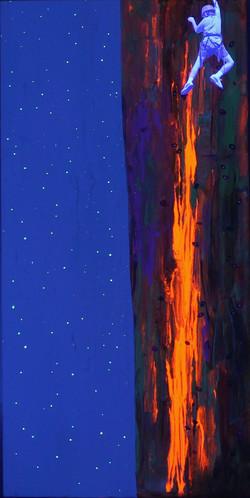 Climbing of the canvas UV Light