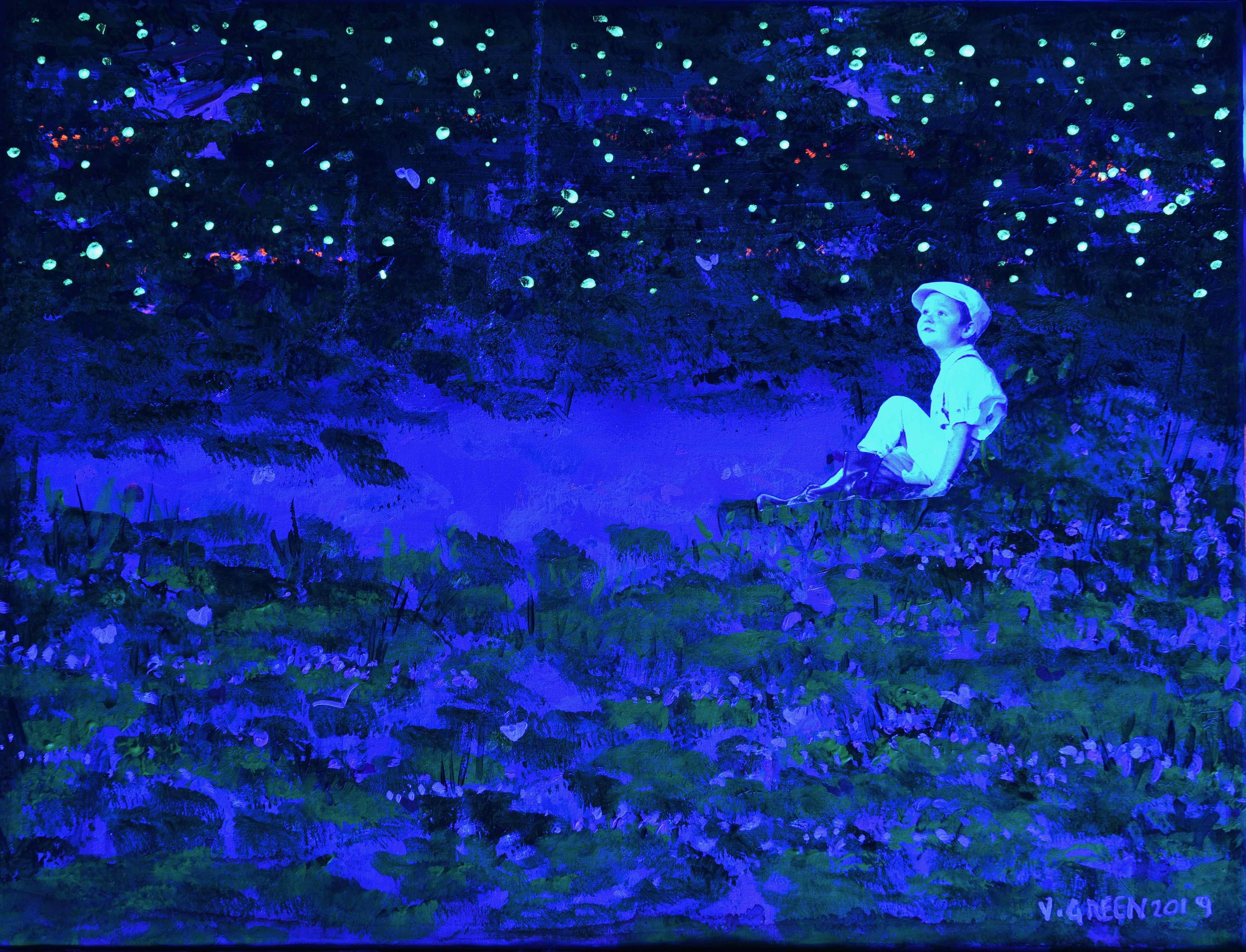 In the pond - Under UV Light