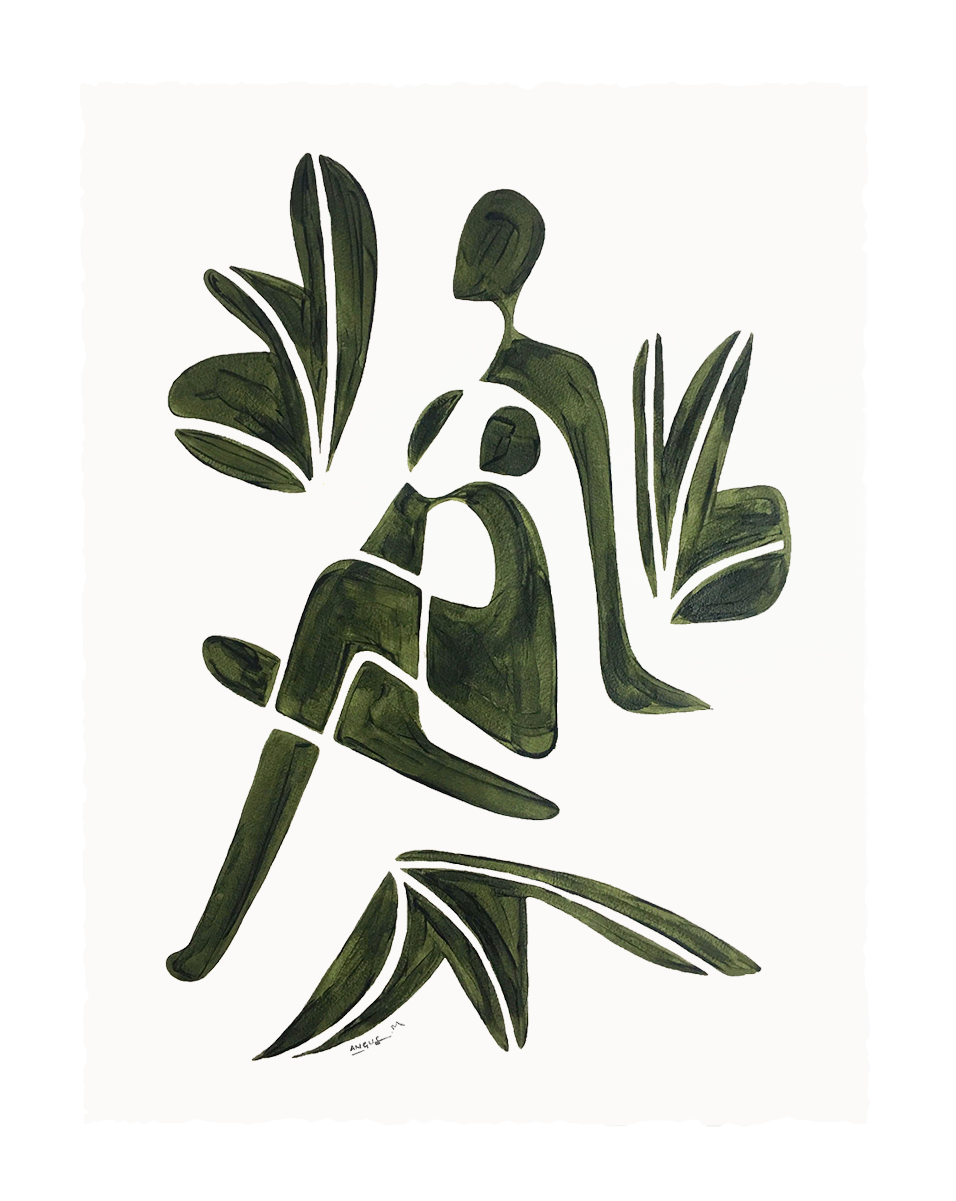 LADYOFTHEFLOWERS 2 - Olive Green
