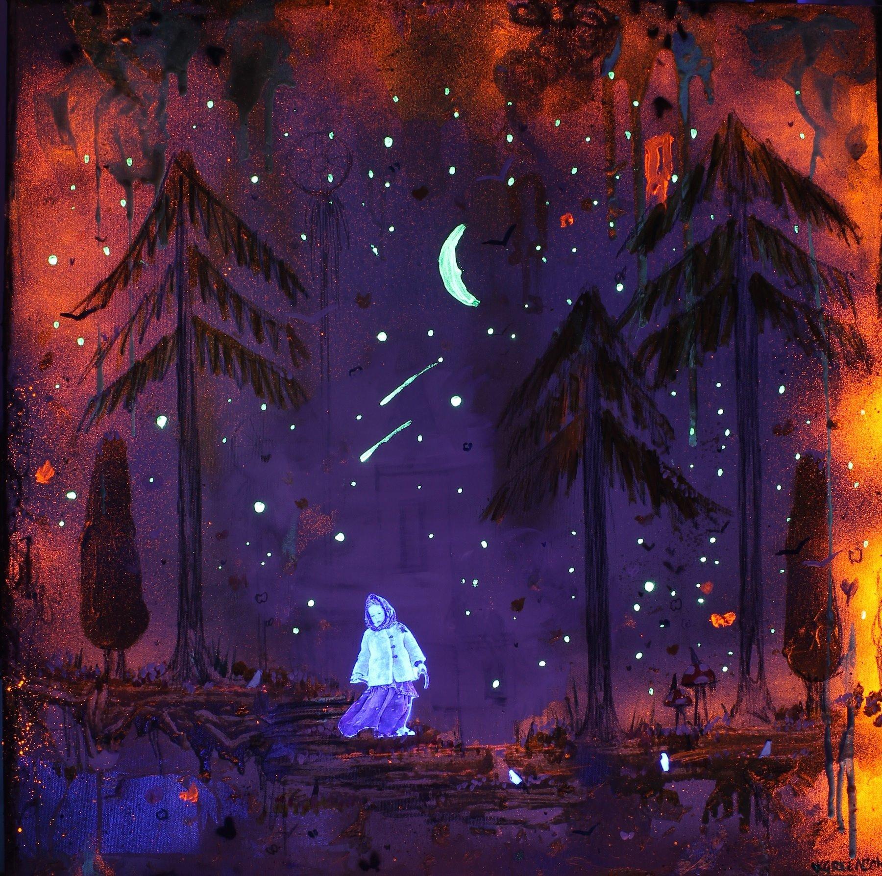 Forest Snow - under UV light