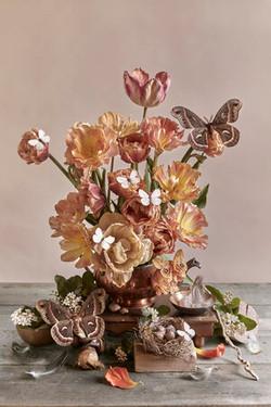 Coper Tulips & Cercropia Moth - /10