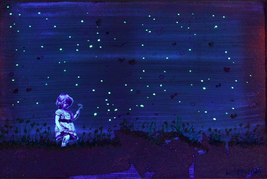 Bunch of Flowers under UV Light