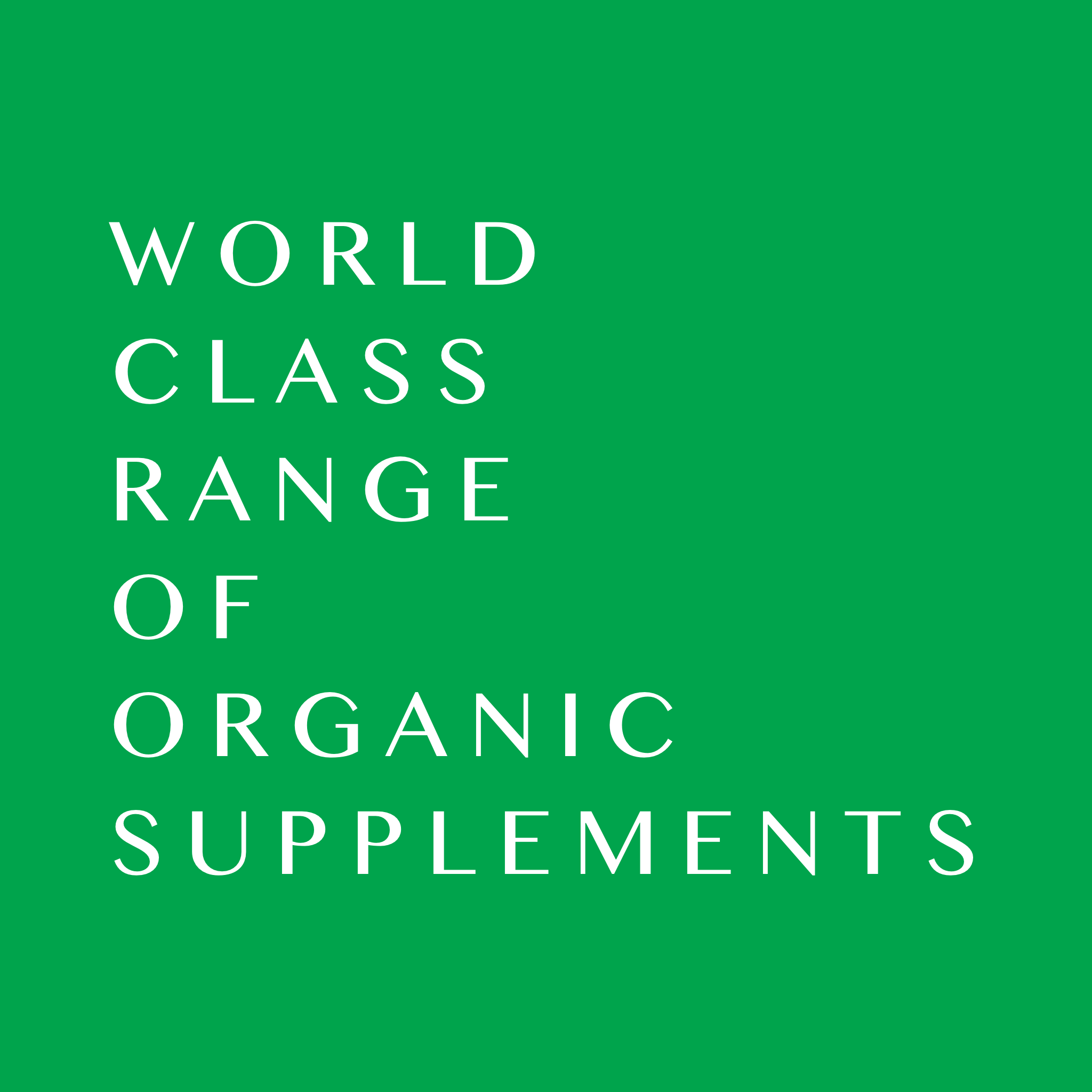 World Class range of organic supplements