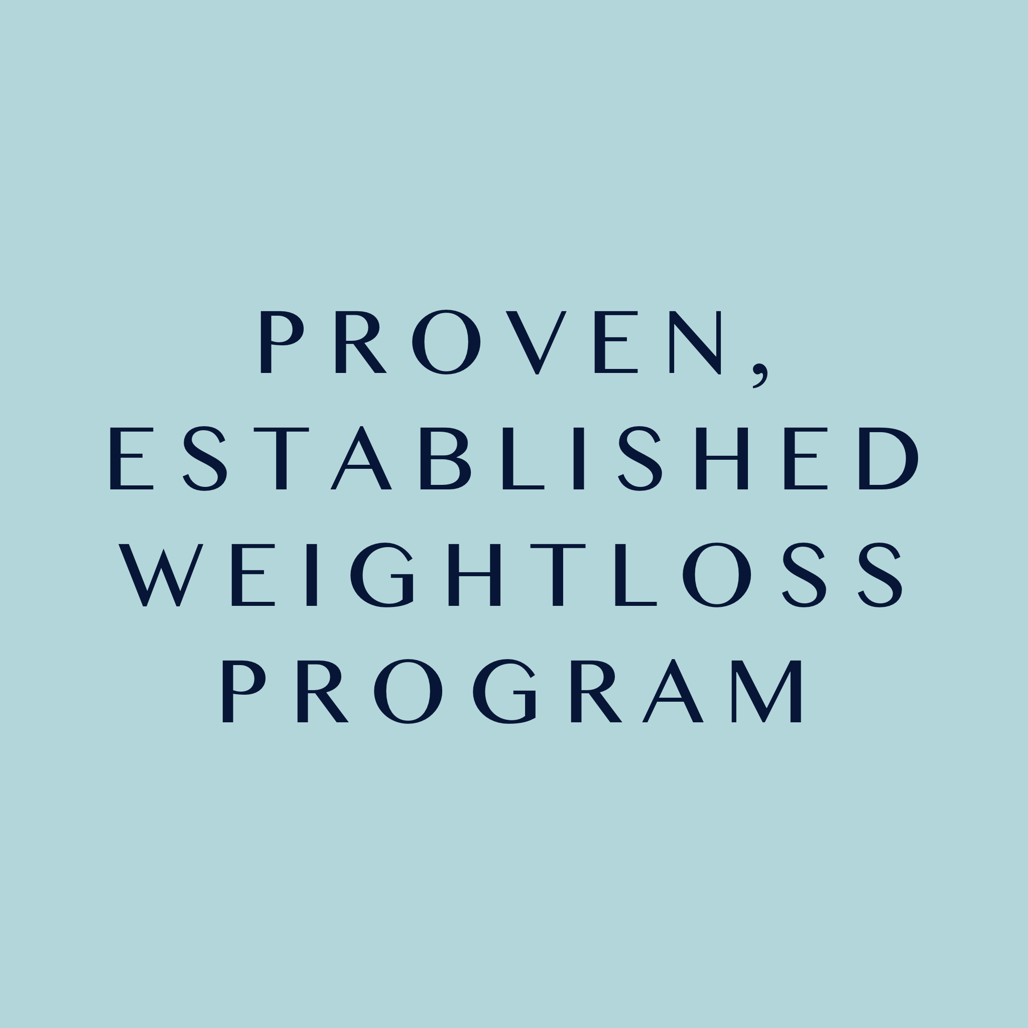 proven established effective weightloss program