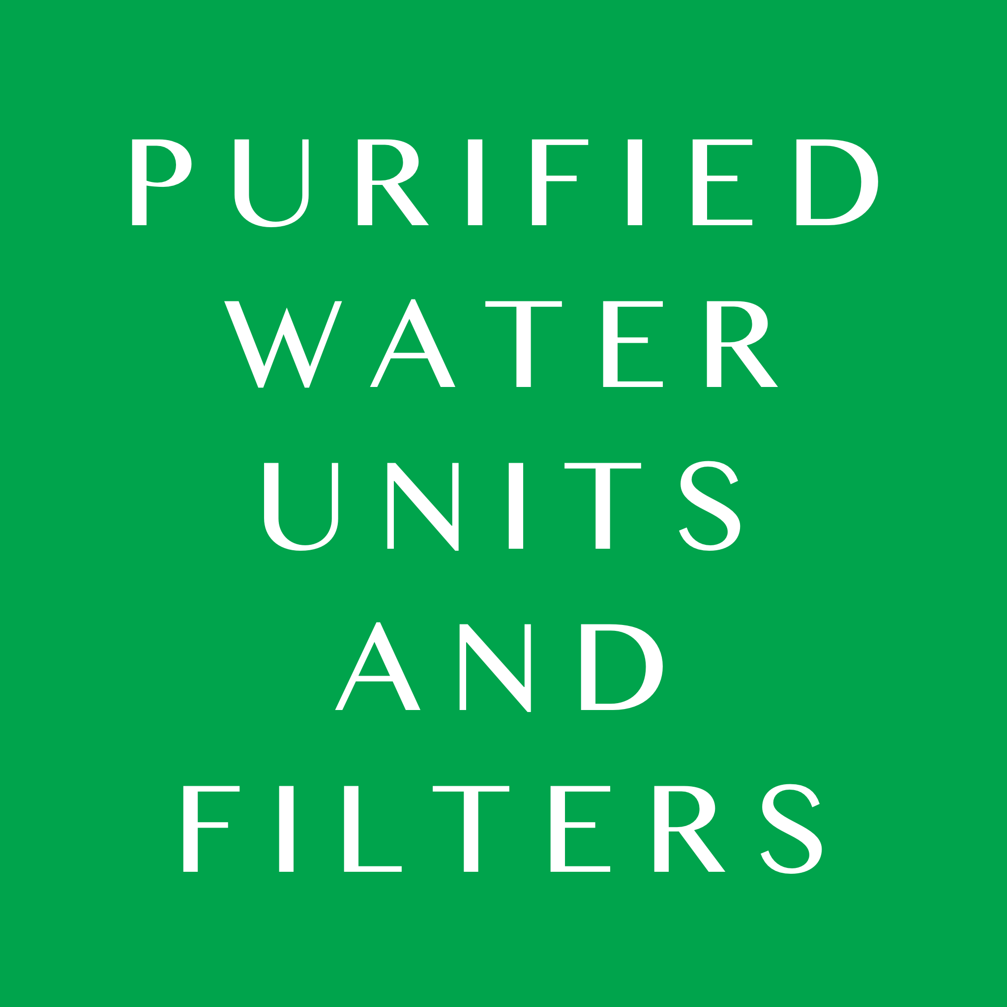 Purified Water Units and Filters