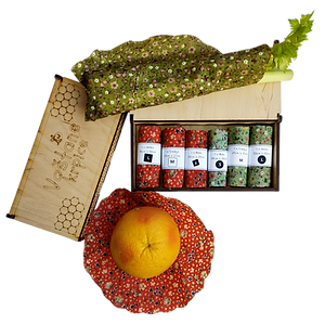 Beeswax Wraps + wooden box