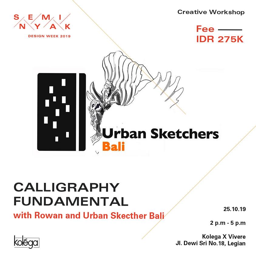 "Urban Sketchers Bali ""Calligraphy Fundamental"" Workshop"