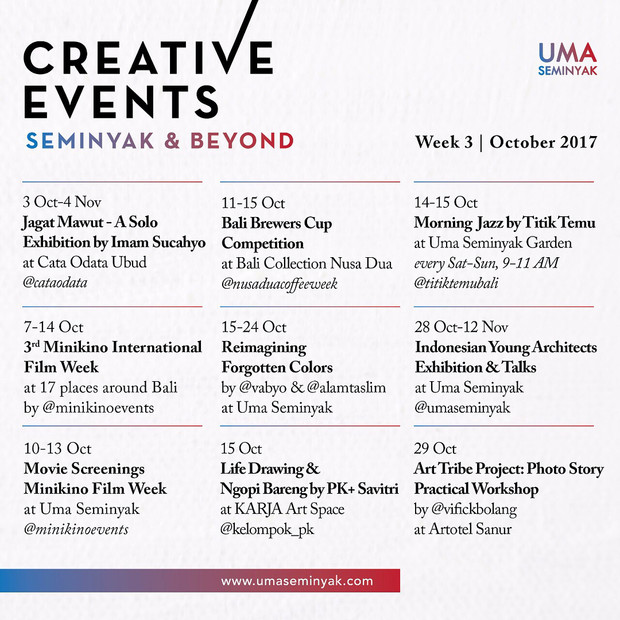 creative events for creative you! Happy weekend guys 👌