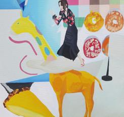 Giraffe and pie_2021_oil on canvas.JPG