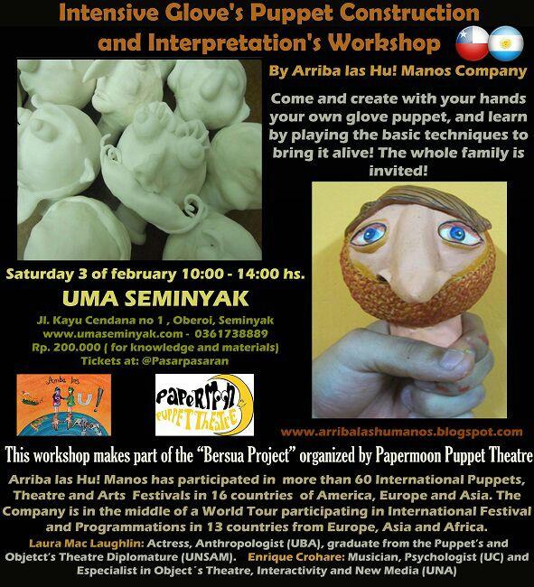 Intensive Glove's Puppet Construction and Interpretation's Workshop at Uma Seminyak