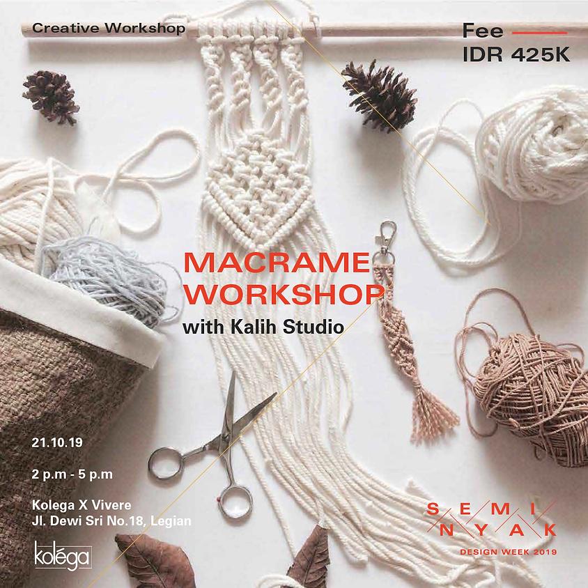 Macrame Workshop with Kalih Studio
