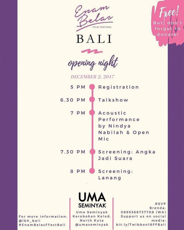 Enam Belas Film Festival Bali