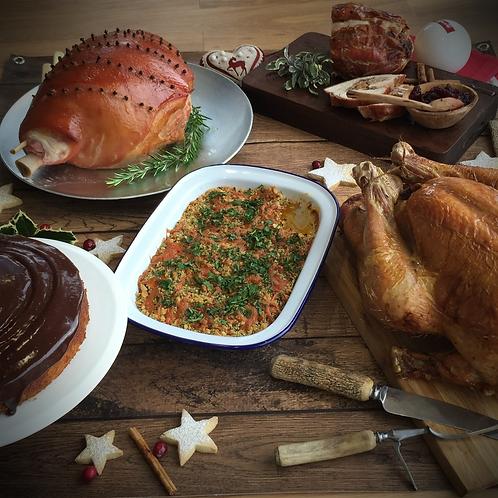 Turkey, Ham and Garnish