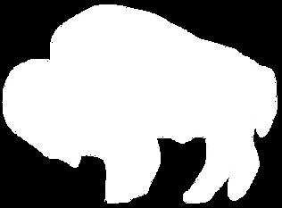 The Great Plains Sauce & Dough Company white buffelo logo