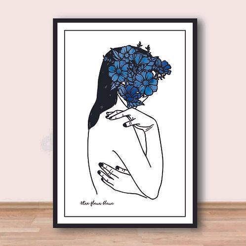 Affiche - Être fleur bleue
