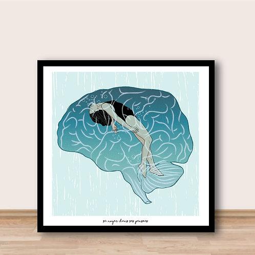 Affiche - Se noyer dans ses pensées