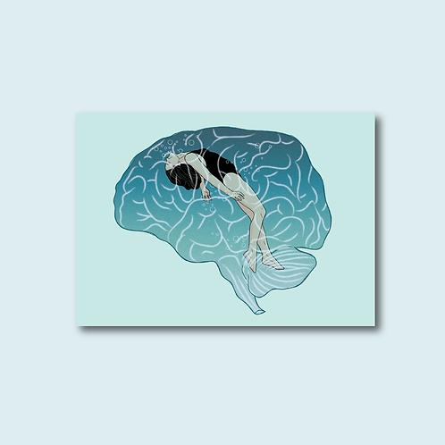 Carte postale - Se noyer dans ses pensées