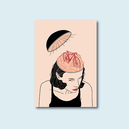 Carte postale - Avoir un petit vélo dans la tête