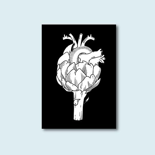 Carte postale - Coeur d'artichaut