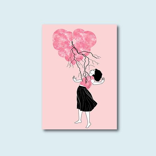 Carte postale - Avoir le coup de foudre