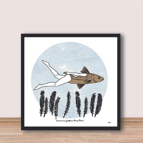 Affiche - Comme un poisson dans l'eau