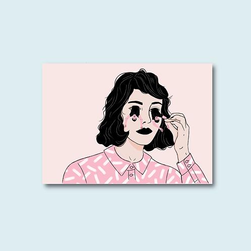 Carte postale - Sortir par les yeux