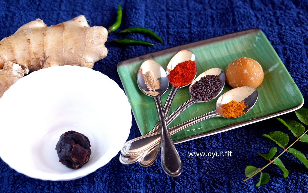Sweet and Spicy Ginger Pickle Ingredients