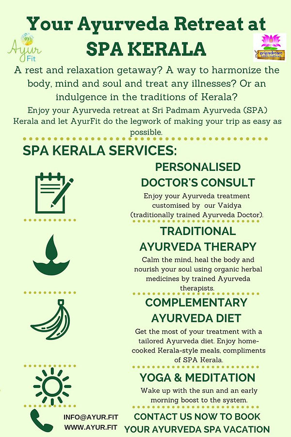 Customised Ayurveda Treatment at SPA Kerala