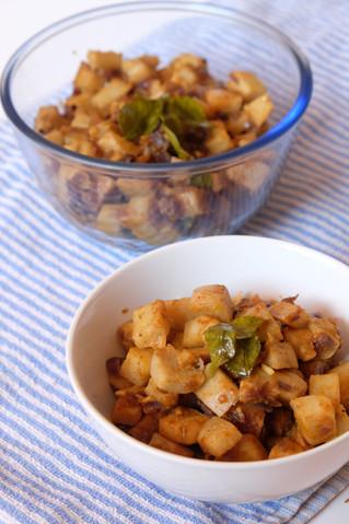 Yam Stir Fry (Chena Mezhukkupuratti)