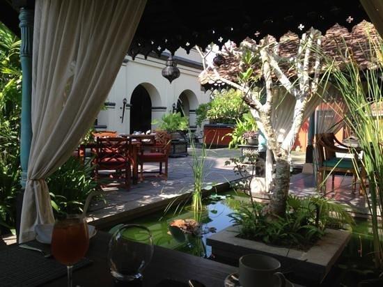 Dining at a palace