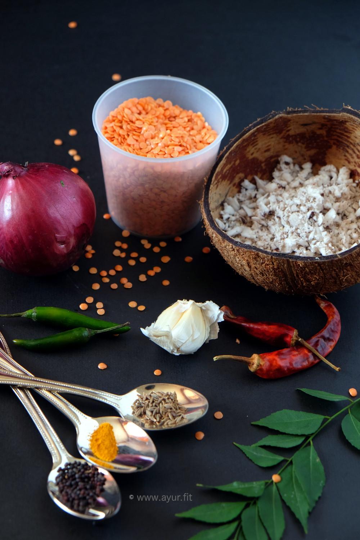 Pink Parippu (Dal) Ingredients