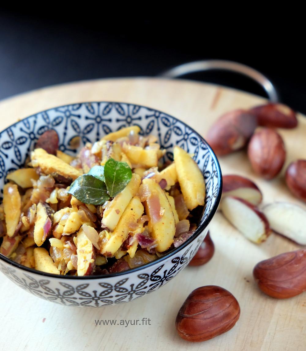 Jackfruit Seeds Stir Fry/ Chakkakuru Mezhukkupuratti