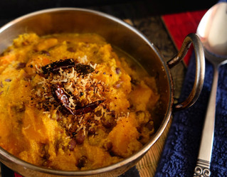 Pumpkin Spiced Curry with Toasted Coconut (Mathanga Erissery)
