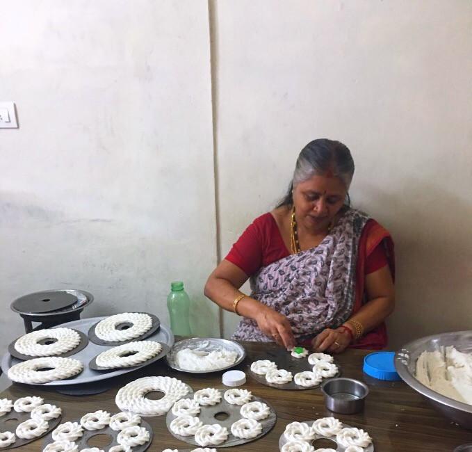 Making traditional homemade snacks