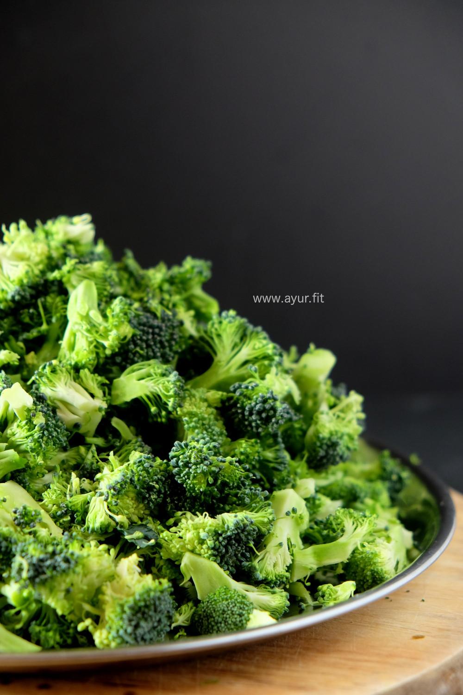 Chopped Broccoli Head Mountain