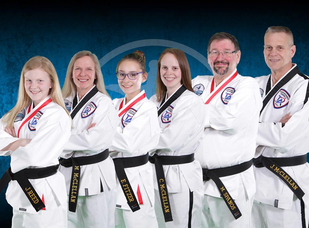 Instructors at McClellan's Taekwondo Academy