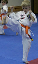 Orange belt at testing