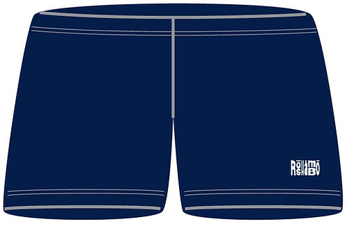 "3"" Inseam Spandex Shorts With White Embroidery"