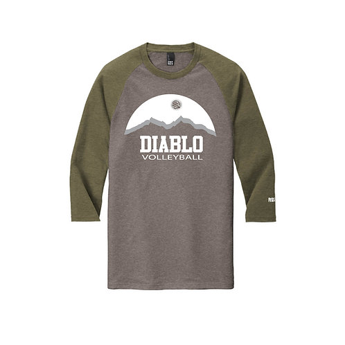Diablo Sunset Raglan 3/4 Sleeve