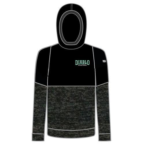 Split Level Hooded Sweatshirt
