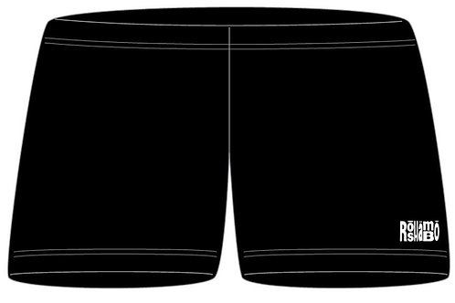 "4"" Inseam Spandex Shorts With White Embroidery"
